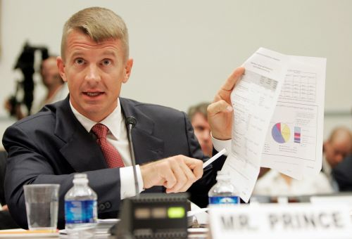 Blackwater Chief Executive Officer Erik Prince defends his company's performance in Iraq before the House oversight committee in 2007